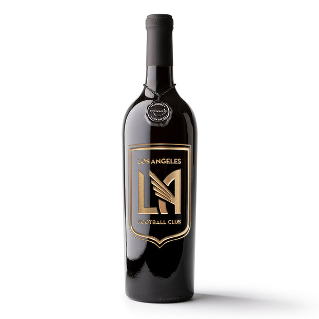 LAFC Shield Logo Etched Wine