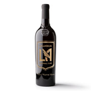LAFC Shield Logo Custom Name Etched Wine