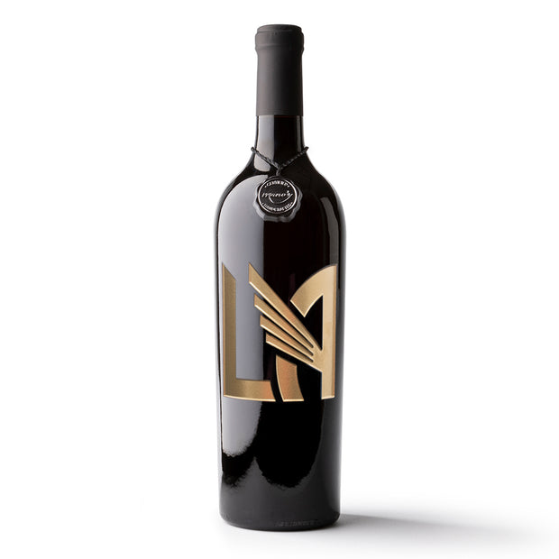 LAFC 'LA' Logo Etched Wine