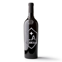 Load image into Gallery viewer, LA Galaxy Shield Logo Etched Wine