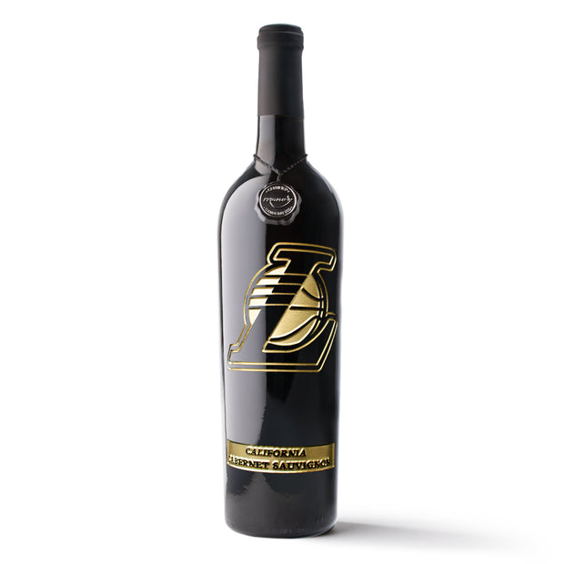 LA Lakers Gold Series Etched Wine