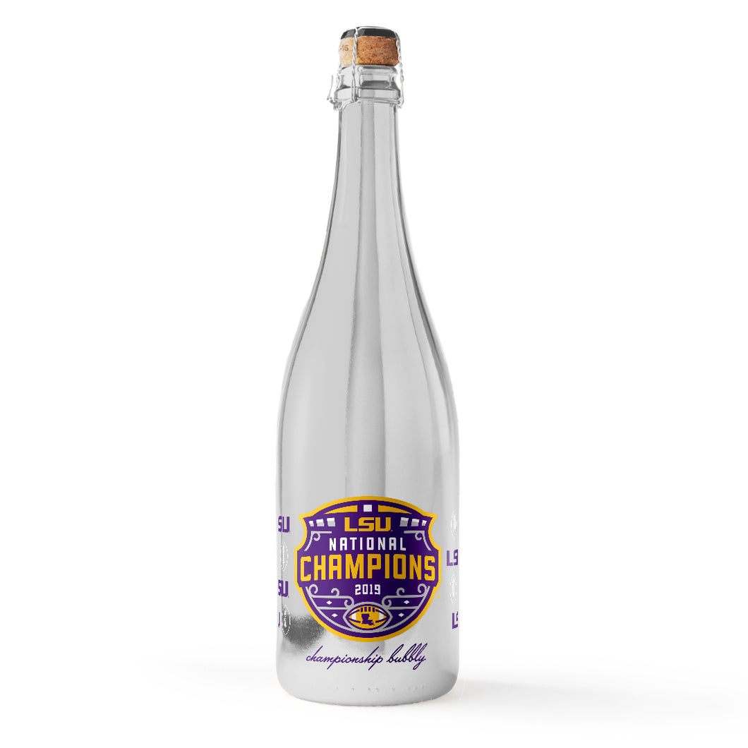 LSU 2019 National Football Champions Silver Bubbly
