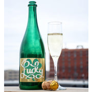 Feelin' Lucky Metallic Green Labeled Bubbly