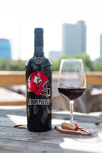 Load image into Gallery viewer, University of Louisville Helmet Etched Wine Bottle