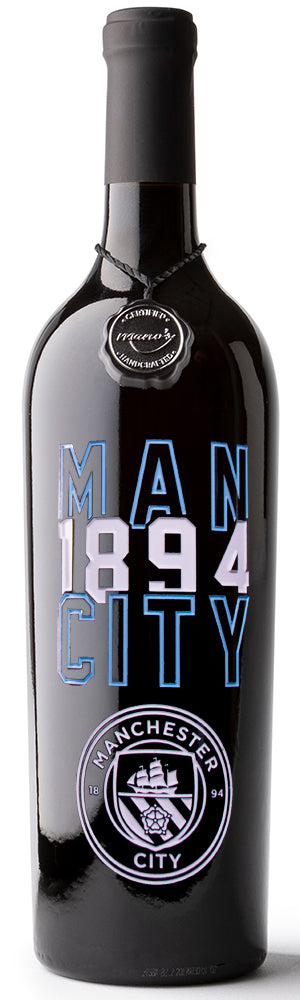 Manchester City FC 1894 Etched Wine