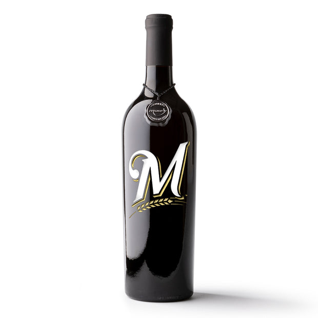 Milwaukee Brewers™ Etched Wine Bottle