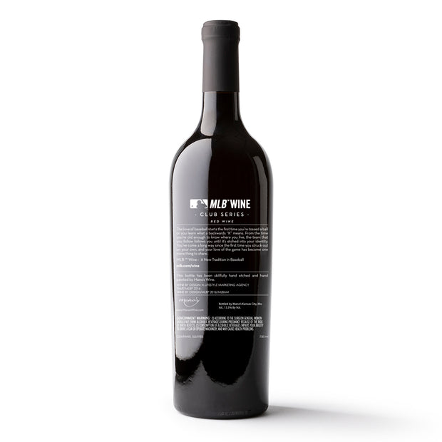 Los Angeles Dodgers™ Logo Etched Wine Bottle