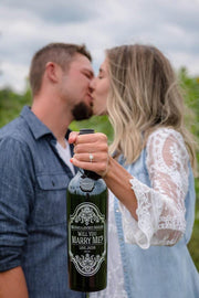 Will You Marry Me? Custom Etched Wine Bottle