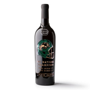 North Dakota State National Champions Helmet Etched Wine