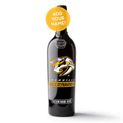 Nashville Predators Logo Custom Name Etched Wine