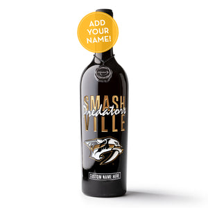 Nashville Predators Smashville Custom Name Etched Wine
