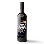Nashville Predators Badge Etched Wine