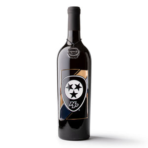 Nashville Predators™ Badge Etched Wine