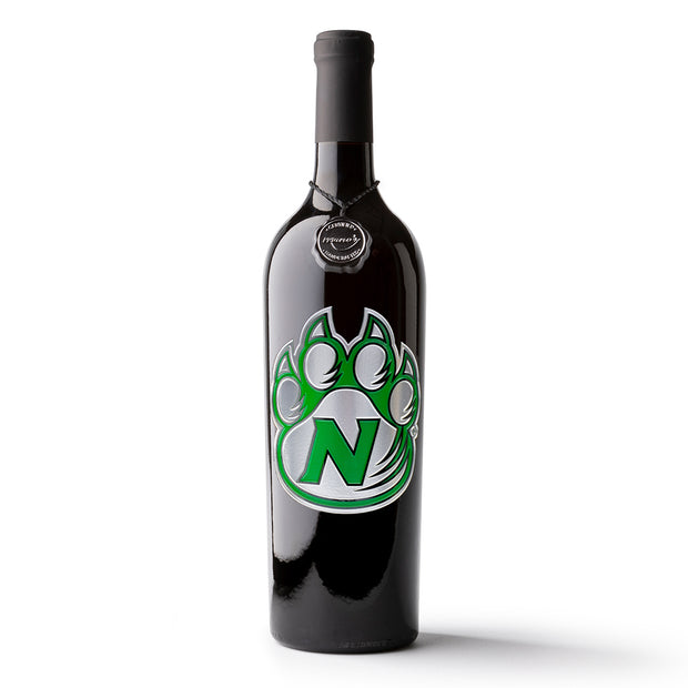 Northwest Missouri State Logo Etched Wine
