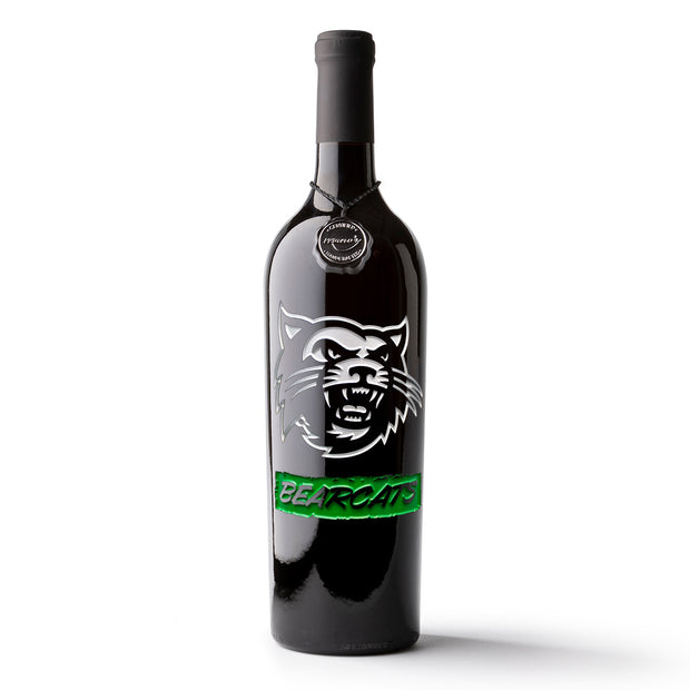 Northwest Missouri State Bearcats Etched Wine