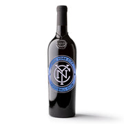 NYC FC Logo Etched Wine