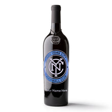 Load image into Gallery viewer, NYC FC Logo Custom Name Etched Wine