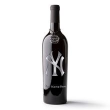 Load image into Gallery viewer, New York Yankees™ Logo Custom Name Etched Wine Bottle