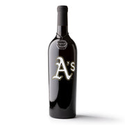 Oakland Athletics™ Etched Wine Bottle