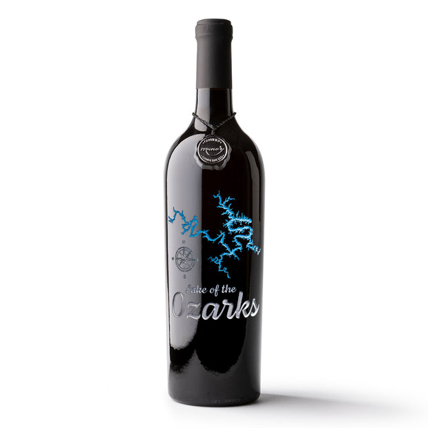 Lake of the Ozarks Etched Wine