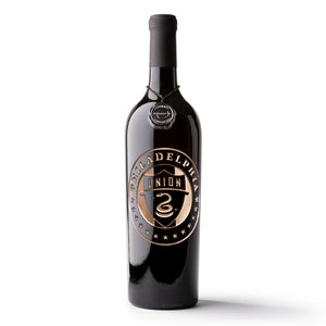 Philadelphia Union Circle Logo Etched Wine