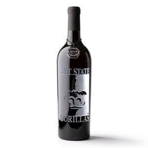 Pittsburg State University Etched Wine Bottle