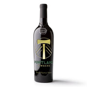 Portland Timbers Logo Custom Name Etched Wine
