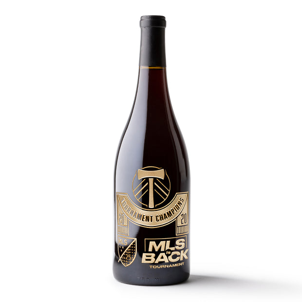 Portland Timbers 2020 MLS is Back Champions Etched Wine