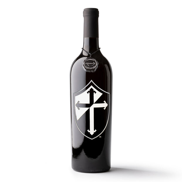 Providence College Shield Logo Etched Wine