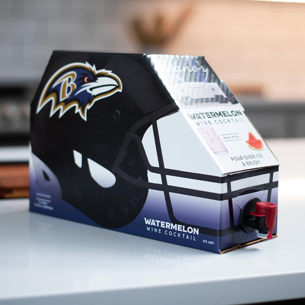 Baltimore Ravens Watermelon Wine Cocktail Box