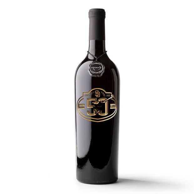 San Diego Padres 50th Anniversary Etched Wine