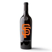 San Francisco Giants™ Logo Custom Name Etched Wine Bottle