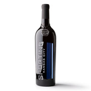 Sporting Kansas City Stripes Etched Wine
