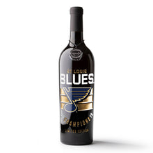 Load image into Gallery viewer, STL Blues 2019 Champions Stripes Etched Wine