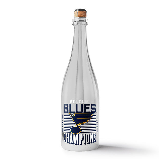 STL Blues 2019 Champions Metallic Silver Bubbly