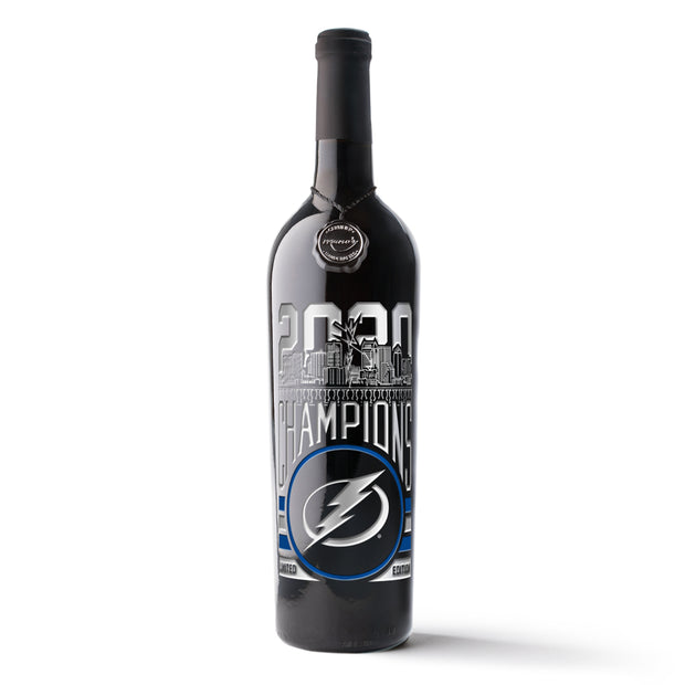 Tampa Bay Lightning 2020 Champions Etched Wine