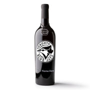 Toronto Blue Jays™ Logo Custom Name Etched Wine Bottle