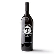 Texas Rangers™ Logo Custom Name Etched Wine Bottle