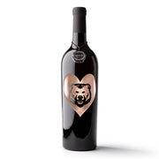 University of Northern Colorado Heart Etched Wine Bottle