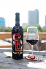 Load image into Gallery viewer, USC Fight On! Etched Wine