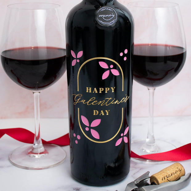 Galentine's Day Etched Wine