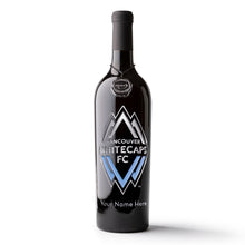 Load image into Gallery viewer, Vancouver Whitecaps FC Logo Custom Name Etched Wine