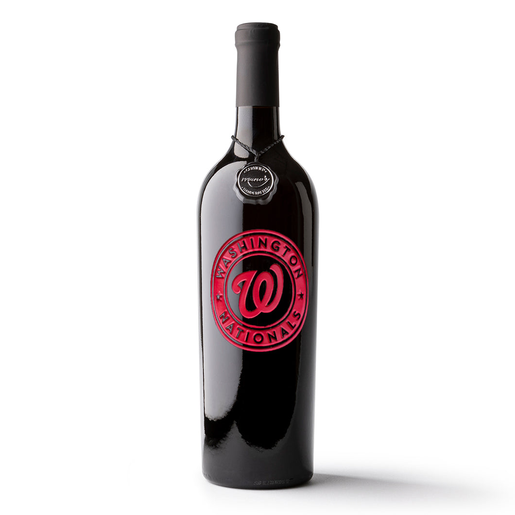 Washington Nationals™ Etched Wine Bottle