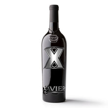 Load image into Gallery viewer, Xavier University Logos Etched Wine Bottle