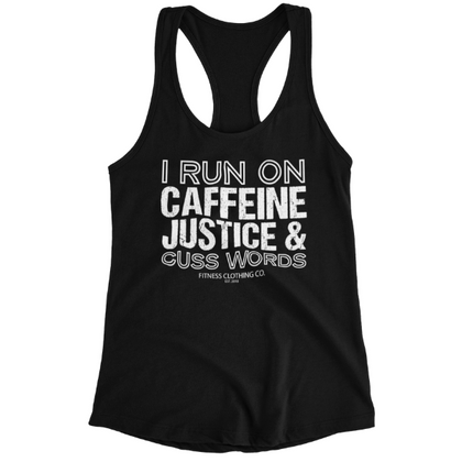 Ladies Racerback Tank / Black / XS