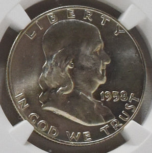 1958-D Franklin 50¢ - MC12012
