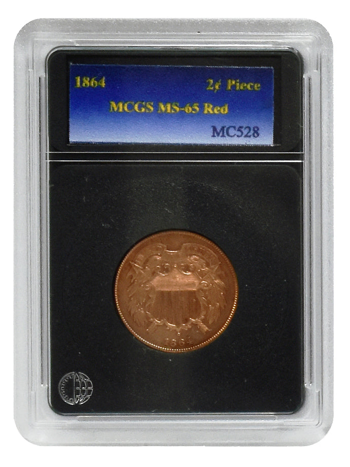 1864 Large Motto 2¢ Piece