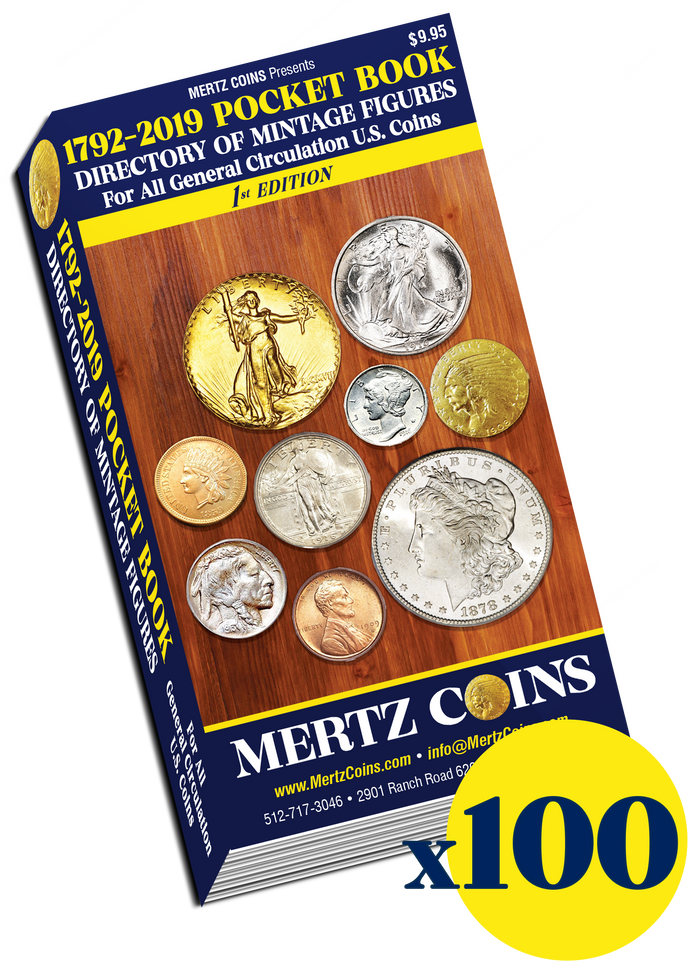 (100) Mertz Coins 1792-2019 Pocket Book Directory WHOLESALE