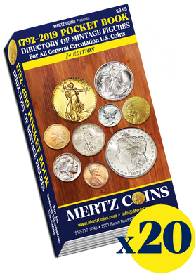 (20) Mertz Coins 1792-2019 Pocket Book Directory WHOLESALE