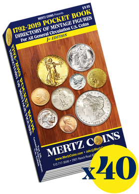 (40) Mertz Coins 1792-2019 Pocket Book Directory WHOLESALE